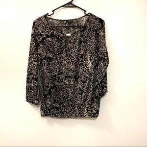 The Limited Paisley Keyhole Blouse